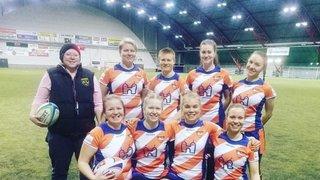 Naisten 1. SM-turnaus 7-rugbyssa pelattiin Myyrmäessä la 30.3.2019