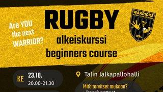 Rugbyn alkeiskurssi Helsingissä  -  Rugby beginners' course in Helsinki