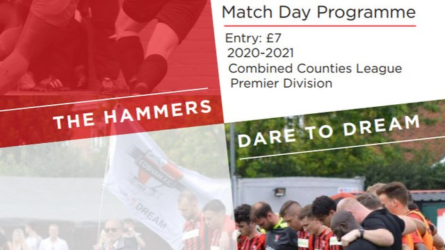 DOWNLOAD MATCH DAY PROGRAMME - SATURDAY 24TH OCTOBER 2020