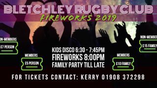 BLETCHLEY RUFC FIREWORKS