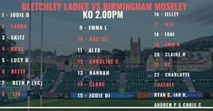 Bletchley Ladies Host Birmingham Moseley Ladies
