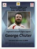 Sportsman's Lunch Friday 26th April