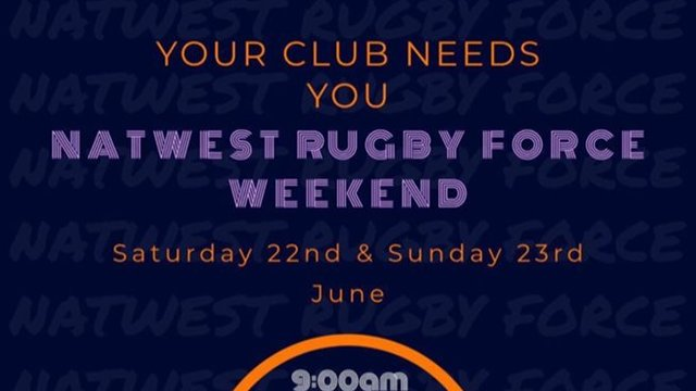 Nat West Rugby Force Weekend.