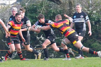 No way through for Winscombe scrum-half Jim Rutherford