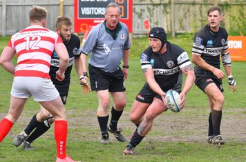 Winscombe prop Alec Chase sets up an attack