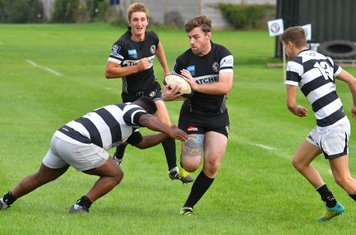 Winscombe centre Owen Howells makes a break