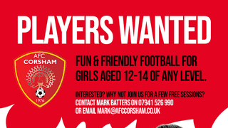 AFC Corsham Lionesses welcome girls aged 12-14 of any level.