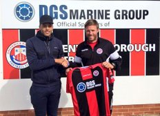 NEW SIGNING: Luis Morrison signs for Greenwich Borough