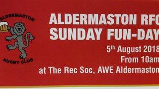 Sunday 5th August is Junior Fun Day at Aldermaston RFC