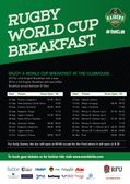 Rugby World Cup Breakfasts