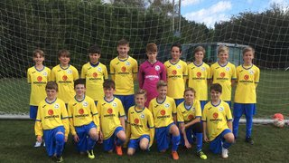 U13s hit 9 goals to ease in to next round of the cup