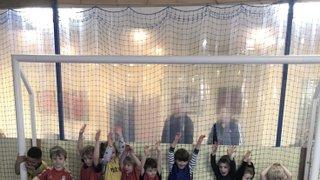 Saturday morning mini soccer fun at Carterton FC in the Futsal hall