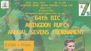 Annual Sevens Tournament 29th June 2019