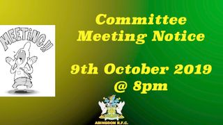 Upcoming Committee Meeting