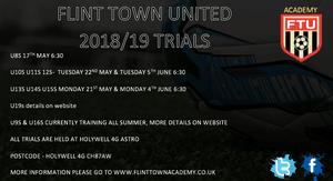 Flint Town Academy Trials 2018/19
