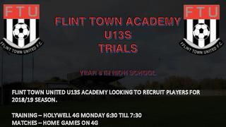 FLINT TOWN ACADEMY U13S TRIALS