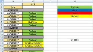 U15 Training