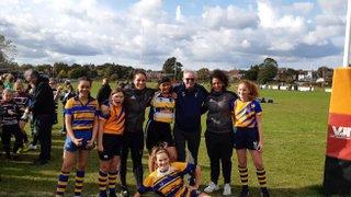 U13 Girls meet Harlequins Womens players at Ashford