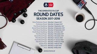 FA Cup & Vase Dates Announced