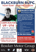 Dino's Rugby Camp Next Week ! 19th - 23rd August - Your  Team - Your Pre-season ! U9's - U16's