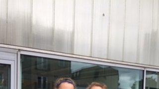 Anna and Jess in Scotland U15 Training Camp