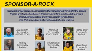 SPONSOR A ROCK FOR THE 2019-20 SEASON