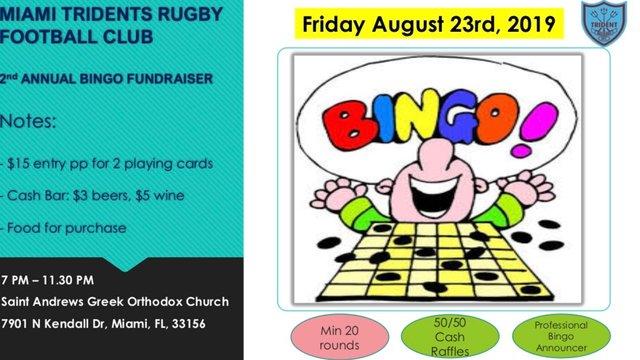 Miami Tridents Annual Bingo Night!