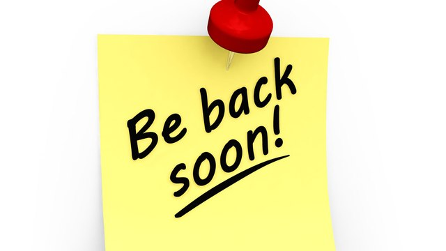 We might be back soon.......