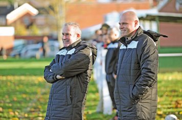 Wayne Oliver & Mark Owen - happier days! - courtesy of the Droitwich Standard