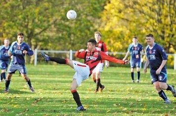 Adam Granger vs Coton Green- courtesy of the Droitwich Standard