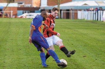 Jasper Alford vs Barnt Green - courtesy of Alex Bradbury & The Droitwich Standard