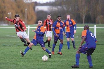 Jack Brighton (front) & Nick Seabourne vs Barnt Green - courtesy of Alex Bradbury & The Droitwich Standard