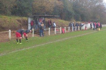 Away end at Hampton