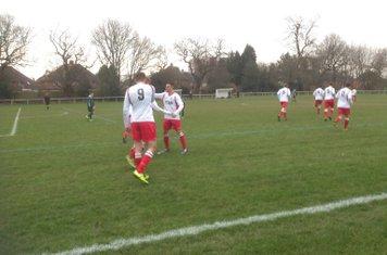 James Lemon (9)  celebrates his first at Sutton United