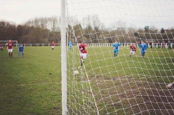 Jame Lemon opens the scoring vs Rostance Edwards - courtesy of Zara Dowthwaite Photography