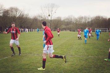 Nick Seabourne, James Lemon & Haydn Morris celebrate vs Rostance Edwards - courtesy of Zara Dowthwaite Photography