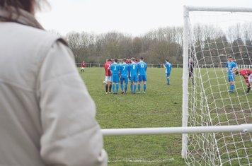 Free Kick vs Rostance Edwards - courtesy of Zara Dowthwaite Photography