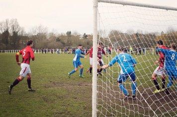 Macaulay Finch scores the 3rd vs Rostance Edwards - courtesy of Zara Dowthwaite Photography