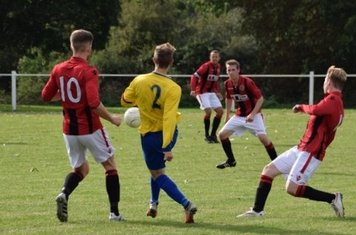 L-R: Seabourne, Andy Crowther, Graeme Pardoe & Morris v Fairfield - courtesy of Jonathan Holloway