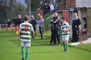 The bench watches on v Feckenham (A) - courtesy of Will Langston