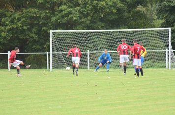 Lemon scores Spa's 3rd v Fairfield Villa - courtesy of Colin Mortiboys