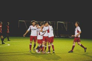 Spa celebrate Morris's goal v Redditch Borough (A) - courtesy of Zara Dowthwaite Photography