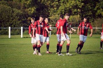 Celebrating Smith's goal v Feckenham (H) courtesy of Zara Dowthwaite Photography