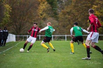 new signing Kieran Whitehead v Leamington Hibs - photo courtesy of David Rawlings