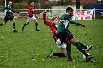 Haydn Morris sliding in v Sutton United - photo courtesy of Jonathan Holloway