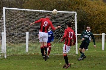 Nick Seabourne opens the scoring v Sutton United - courtesy of Jon Holloway