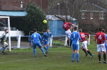 Nick Seabourne with a header v Bloxwich (A) courtesy of Jon Holloway