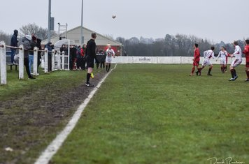 Andy Crowther's long throw v Coton Green (A) photo courtesy of David Rawlings