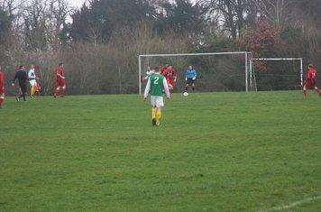 Jack Allerton brings the ball away v Leamington Hibernian (A) - photo courtesy of Chris Hutchings