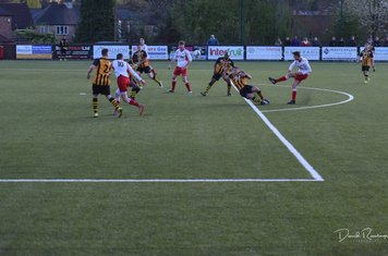 Jack Allerton lets fly for the opening goal v Paget Rangers (A) photo courtesy of David Rawlings